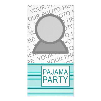 fiesta de pijama rayado tarjeta personal