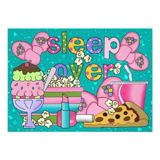 Fiesta de pijama/sueño encima - SRF Anuncios Personalizados