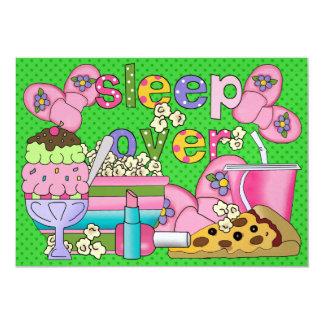 Fiesta de pijama/sueño encima - SRF Invitación 12,7 X 17,8 Cm
