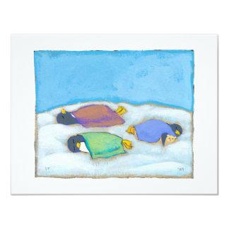 Fiesta de pijamas adorable de la diversión de los invitación 10,8 x 13,9 cm