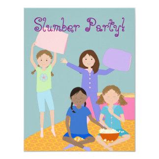 Fiesta de pijamas de los chicas invitación 10,8 x 13,9 cm