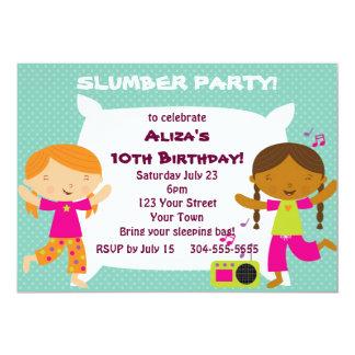 Fiesta de pijamas de los chicas invitación 12,7 x 17,8 cm