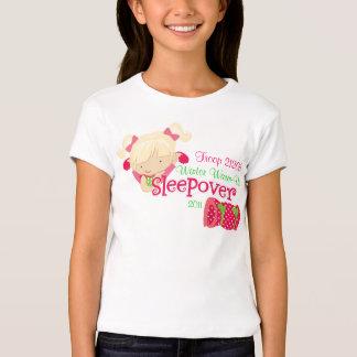 Fiesta de pijamas del chica camiseta