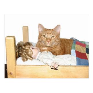Fiesta de pijamas del gato tarjetas postales