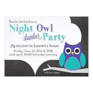 Fiesta de pijamas del noctámbulo invitación 12,7 x 17,8 cm