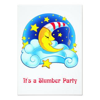 Fiesta de pijamas estrellada del cielo de la luna invitacion personal
