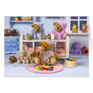 Fiesta de pijamas pequeña de los osos felicitacion