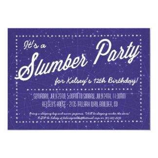 Fiesta de pijamas - sueño encima debajo de las invitación 12,7 x 17,8 cm