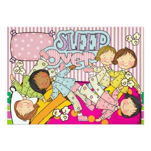 Fiesta de pijamas - sueño encima invitaciones personales