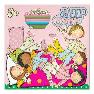 Fiesta de pijamas - sueño encima invitación 13,3 cm x 13,3cm