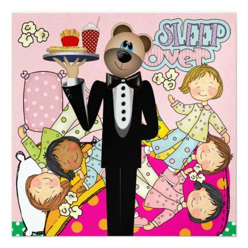 Fiesta de pijamas - sueño encima - SRF Invitación Personalizada
