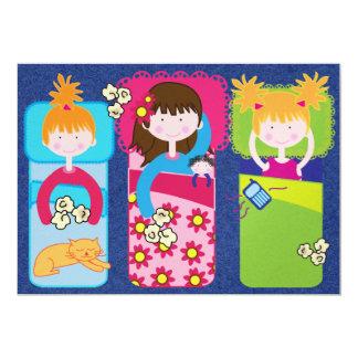 Fiesta de pijamas/sueño encima - SRF Invitación 12,7 X 17,8 Cm