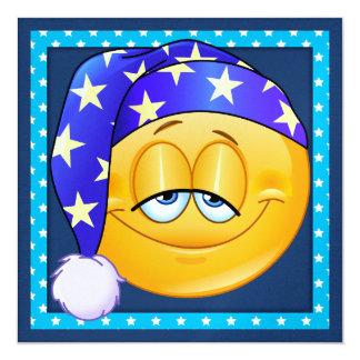 Fiesta de pijamas/sueño encima - SRF Invitación 13,3 Cm X 13,3cm