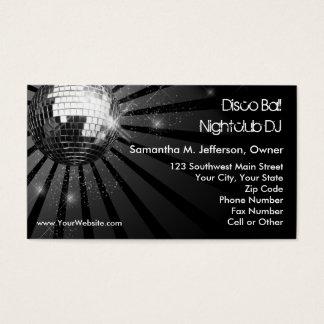 Fiesta de plata de la bola de discoteca de la tarjeta de negocios