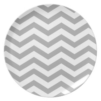 Fiesta de plata elegante del monograma el | de plato de comida