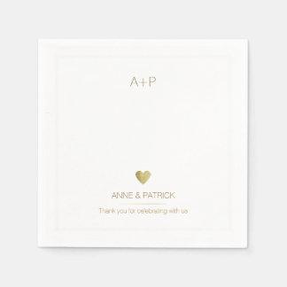fiesta de recepción minimalista del boda servilletas de papel