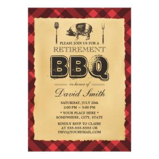 Fiesta de retiro del Bbq de la carne asada del Invitaciones Personales