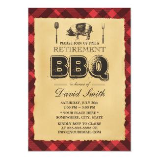 Fiesta de retiro del Bbq de la carne asada del Invitación 12,7 X 17,8 Cm