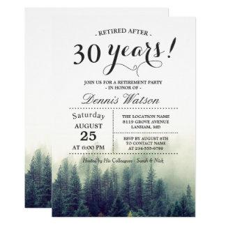 Fiesta de retiro elegante elegante de los árboles invitación 12,7 x 17,8 cm