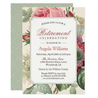 Fiesta de retiro elegante floral botánico del invitación 12,7 x 17,8 cm
