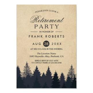 Fiesta de retiro rústico de Kraft del bosque de Invitación 12,7 X 17,8 Cm