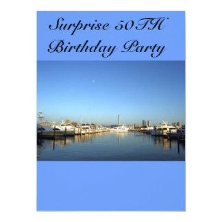 fiesta de sorpresa invitación 16,5 x 22,2 cm