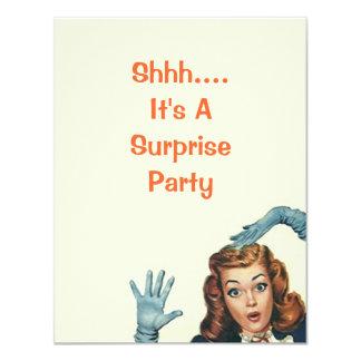 Fiesta de sorpresa retro para cuaesquiera invitación 10,8 x 13,9 cm