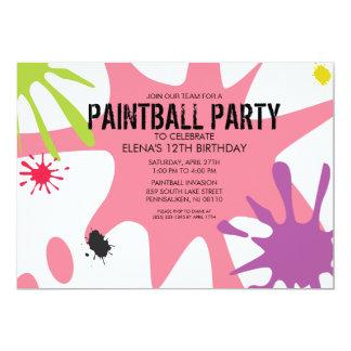 Fiesta de Splat Custom Paintball de princesa Pink Anuncios Personalizados