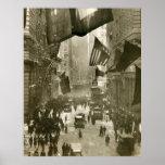Fiesta de Wall Street, extremo de WW1, 1918 Poster