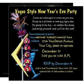 Fiesta de Year'sEve del estilo de Las Vegas nuevo Invitación 13,3 Cm X 13,3cm