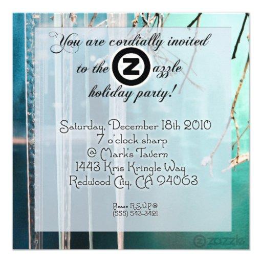 ¡Fiesta de Zazzle del carámbano! Invitacion Personalizada