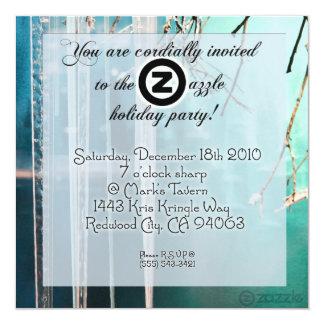 ¡Fiesta de Zazzle del carámbano! Invitación 13,3 Cm X 13,3cm