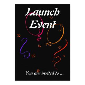 Fiesta del acontecimiento del lanzamiento invitación 11,4 x 15,8 cm