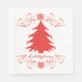 Fiesta del árbol de navidad de la celebración servilleta desechable