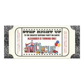 Fiesta del boleto del circo invitación 10,1 x 23,5 cm