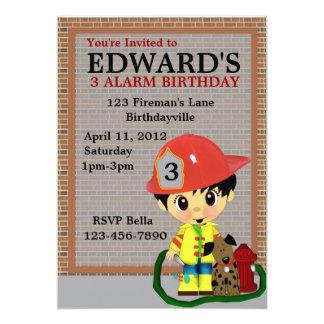 Fiesta del bombero invitación 12,7 x 17,8 cm
