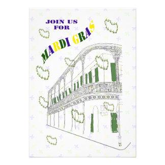 Fiesta del carnaval del balcón del barrio francés