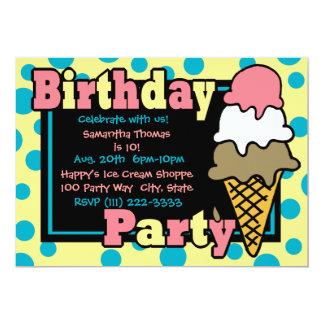 Fiesta del cono de helado invitación