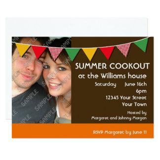 Fiesta del Cookout del verano Invitación 12,7 X 17,8 Cm