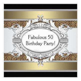Fiesta del cumpleaños de la 50.a mujer fabulosa de comunicado personal