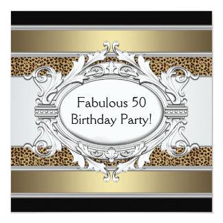 Fiesta del cumpleaños de la 50.a mujer fabulosa invitación 13,3 cm x 13,3cm