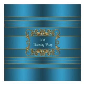 Fiesta del cumpleaños de la mujer azul del trullo invitación 13,3 cm x 13,3cm