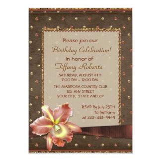 Fiesta del cumpleaños de la mujer de la elegancia invitación 12,7 x 17,8 cm