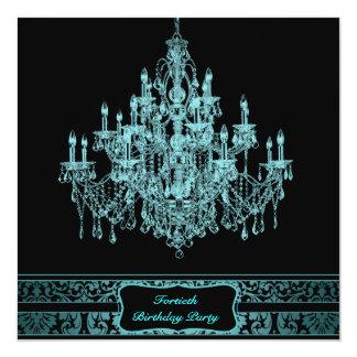 Fiesta del cumpleaños de la mujer de la lámpara invitación 13,3 cm x 13,3cm