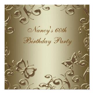 Fiesta del cumpleaños de la mujer de los remolinos invitación 13,3 cm x 13,3cm