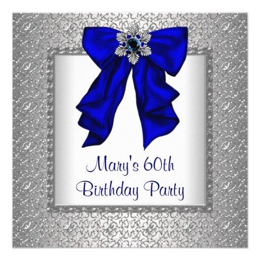 Fiesta del cumpleaños de la mujer del azul real 60 anuncios