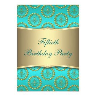 Fiesta del cumpleaños de la mujer del trullo del invitación 12,7 x 17,8 cm