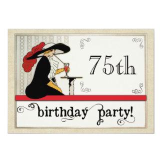 Fiesta del cumpleaños de la mujer personalizada invitación 12,7 x 17,8 cm