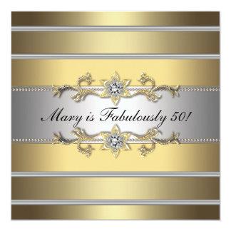 Fiesta del cumpleaños de las 50 mujeres fabulosa invitación 13,3 cm x 13,3cm