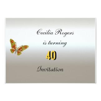 Fiesta del cumpleaños de las mujeres elegantes de invitación 12,7 x 17,8 cm